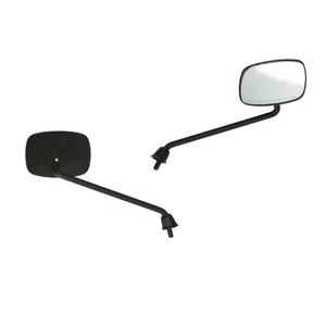Spiegelset zwart (rechthoekig)