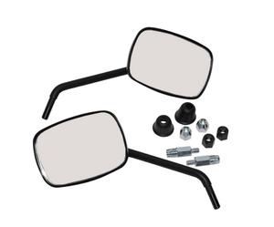 Spiegelset  • Mat zwart • Kort • Vierkant