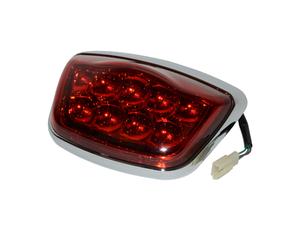 Achterlichtunit rood chroom rand